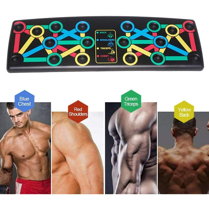 14 in 1 Push Up Rack Board - Comprehensive Fitness Home Equipment - ManKave Gifts & Accessories