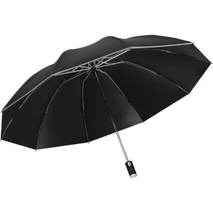 Mens Automatic Umbrella with Torch & Reflectors - ManKave Gifts & Accessories