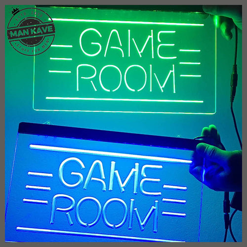 GAME ROOM LED Neon Light Sign - Man-Kave