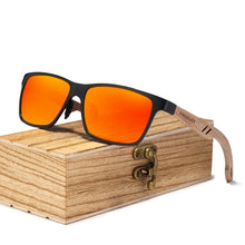 Load image into Gallery viewer, Men's Wood Sunglasses Polarized - UV400 Protection