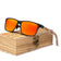 Men's Wood Sunglasses Polarized - UV400 Protection