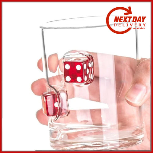 Casino Dice Whisky / Drinks Glass - Man-Kave