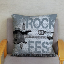 Load image into Gallery viewer, Cushion Covers - Rock Music Print - ManKave Gifts & Accessories