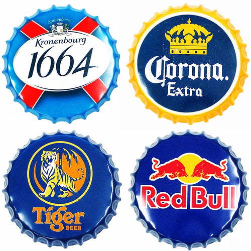 Beer Bottle Cap Decoration Signs - ManKave Gifts & Accessories