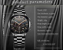 Load image into Gallery viewer, 2020 Mens Watch - LIGE Fashion Sport Quartz Watches - ManKave Gifts & Accessories