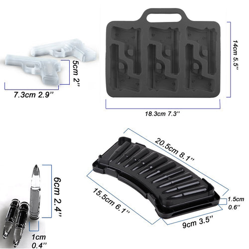 Ice Cube Maker - Bullet Shape Ice Cube Tray - ManKave Gifts & Accessories