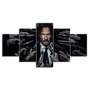 5 Piece John Wick Poster Wall Art