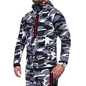 New Camouflage Printed Men's Set - Joggers & Jacket