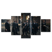 Load image into Gallery viewer, 5 Panel Peaky Blinders Canvas Wall Art