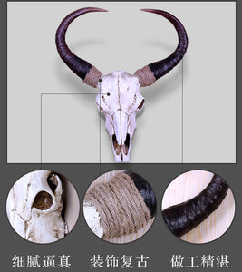Vintage Cow Head Skull - Wall Mount Ornament - ManKave Gifts & Accessories