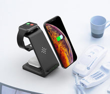Load image into Gallery viewer, 3 in1 Wireless Charger For iPhone 11/Xs AirPods Apple Watch - ManKave Gifts & Accessories