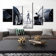 Load image into Gallery viewer, Fast And Furious Racing Cars Poster Canvas  Wall Art 5 Piece - ManKave Gifts & Accessories