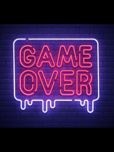 Game Over Neon Sign - ManKave Gifts & Accessories