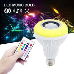 Smart E27 LED Bulb - RGB Light - Wireless Bluetooth Audio Speaker - ManKave Gifts & Accessories