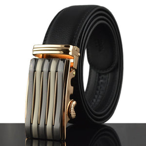 Stylish Leather Belt For Men - Automatic Ratchet Buckle