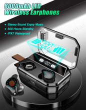 Load image into Gallery viewer, 8000mAh Bluetooth Wireless Earphones - Waterproof Earbuds With LED Display - ManKave Gifts & Accessories