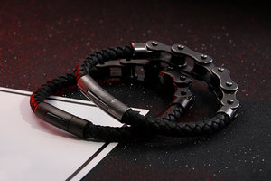 Brand New Frosted Stainless Steel Bike Chain Bracelet For Men - ManKave Gifts & Accessories