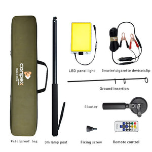 3M Portable Telescopic LED Flood Light - Fishing / Searchlight / Camping - with Remote Control - ManKave Gifts & Accessories