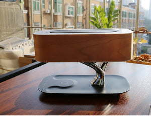 Tree Light Table Lamp with Bluetooth Music Speaker & Wireless Charging(QI) - ManKave Gifts & Accessories