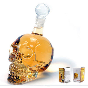 Creative Skull Glass Whisky Decanter - ManKave Gifts & Accessories