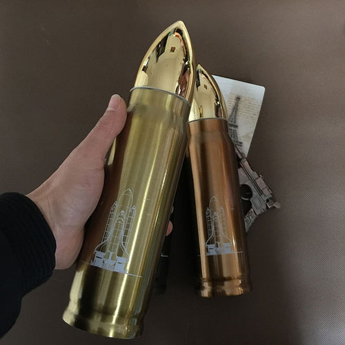 350-500ML Bullet / Shell Thermos Flask - Man-Kave