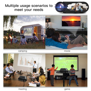 4K LED Projector Portable 1080P Full HD - Outdoor Home Cinema - ManKave Gifts & Accessories