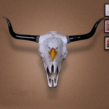 Load image into Gallery viewer, Vintage Cow Head Skull - Wall Mount Ornament - ManKave Gifts & Accessories