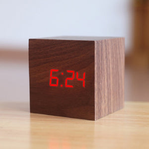 Digital Wooden LED Alarm Clock - ManKave Gifts & Accessories