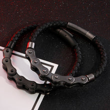 Load image into Gallery viewer, Brand New Frosted Stainless Steel Bike Chain Bracelet For Men - ManKave Gifts & Accessories