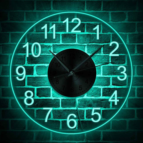 LED Illuminated Wall Clock - Decorative Acrylic Round Wall Hanging Clock for your Home - ManKave Gifts & Accessories