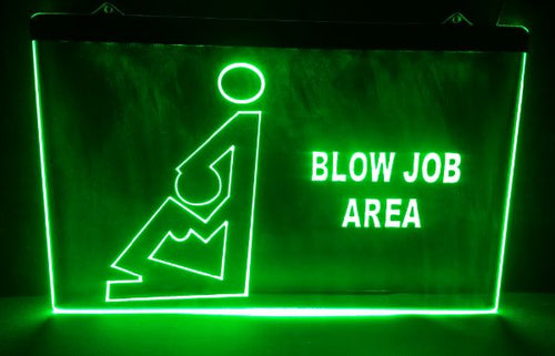 Blow Job Area LED sign - ManKave Gifts & Accessories