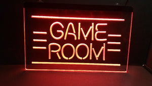 GAME ROOM LED Neon Light Sign - ManKave Gifts & Accessories