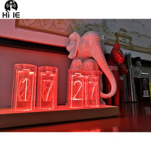 Load image into Gallery viewer, Glow Tube Digital Clock - Solid Wood Creative Gift Retro LED Home Clock - ManKave Gifts & Accessories