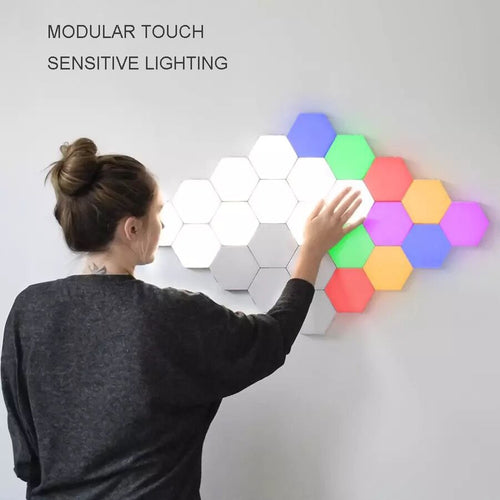 Colourful Quantum Lamp Led Hexagonal Lamps - Modular - Touch Sensitive Night Light - ManKave Gifts & Accessories