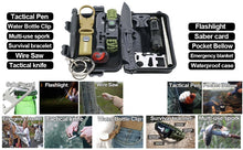 Load image into Gallery viewer, Survival Kit 12 in 1 - Fishing Hunting / SOS / Emergency Camping / Hiking Kit - ManKave Gifts & Accessories