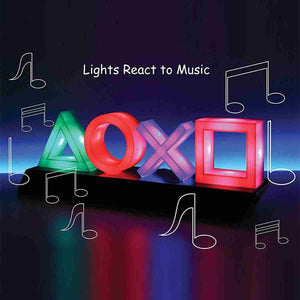PS Game Icon Light Acrylic Decorative Lamp - Playstation Lamp - ManKave Gifts & Accessories