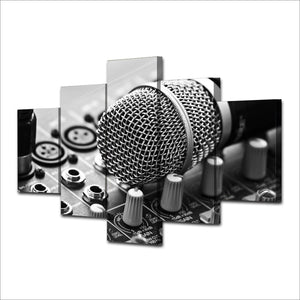 Music / Microphone Painting Canvas Set - ManKave Gifts & Accessories