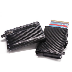 RFID Metal Card Holder Wallet - Carbon Fibre Wallet - ManKave Gifts & Accessories