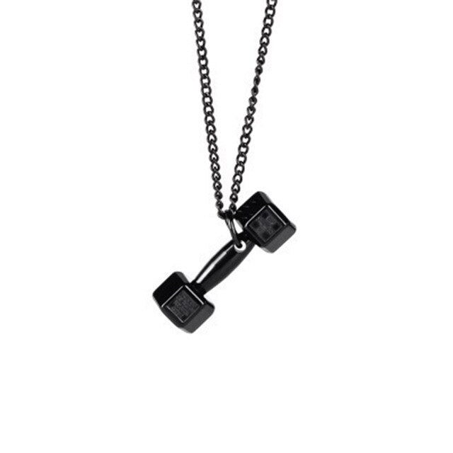 Gym Dumbbell Pendant Necklace Chain for Men - ManKave Gifts & Accessories