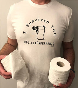 Funny T Shirt Poking Fun At The Toilet Paper Panic 2020 - ManKave Gifts & Accessories