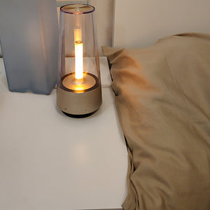 HOT Candle Light Bluetooth speaker - LED Night Light, - ManKave Gifts & Accessories