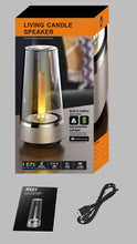 Load image into Gallery viewer, HOT Candle Light Bluetooth speaker - LED Night Light, - ManKave Gifts & Accessories
