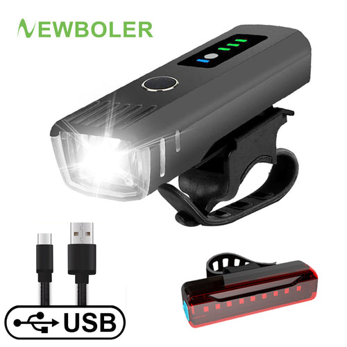 Smart Bicycle Front & Rear Light Set - USB Rechargeable - ManKave Gifts & Accessories