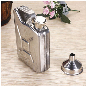 5oz Gasoline Bucket Shape HIP FLASK -  Wedding Party /  Bar / Stag Do - ManKave Gifts & Accessories