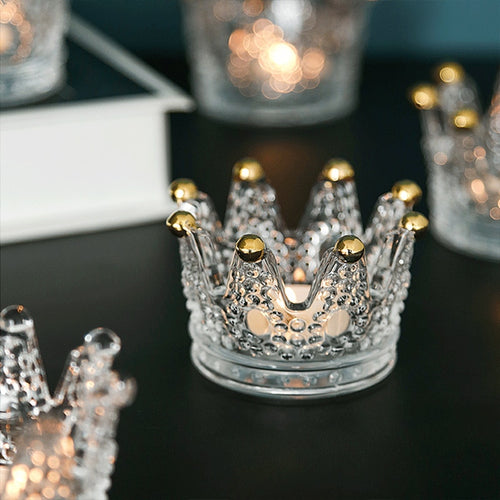 Crown Glass Dish - Candles or Nuts! - Man-Kave