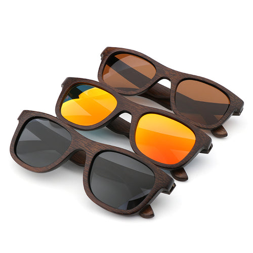 Luxury Sunglasses - Polarised - Vintage Bamboo Wood - ManKave Gifts & Accessories