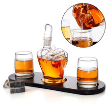 Load image into Gallery viewer, 6PCS Gift Set - Creative Finger Shape Glass Bottle Decanter Set