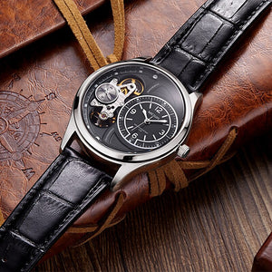 Gentlemen's Watch - Luxury Quartz Watch with Leather Strap - Man-Kave