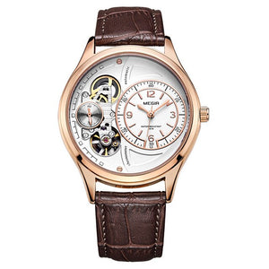 Gentlemen's Watch - Luxury Quartz Watch with Leather Strap