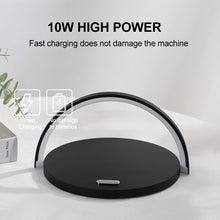 Load image into Gallery viewer, Modern Qi Fast Wireless Charger Table Lamp for Mobile Phones - Man-Kave